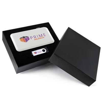 Superior Gift Set – Extreme Power Bank, Swivel Flash Drive
