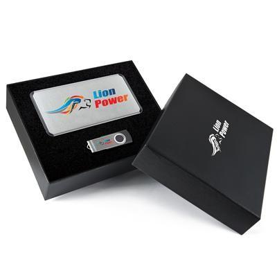 Superior  Gift Set – Matrix Power Bank and Swivel Flash Drive